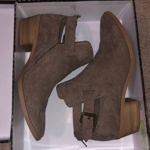 Taupe brown booties